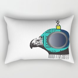 Arabian Falcon Pattern Rectangular Pillow