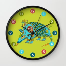 Armadillo, from the AlphaPod collection Wall Clock