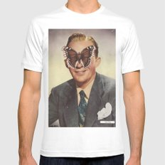 BING CROSBY.  (PIN-UPS). Mens Fitted Tee White MEDIUM