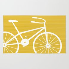 Yellow Bike by Friztin Rug