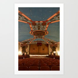 a theater's voice Art Print