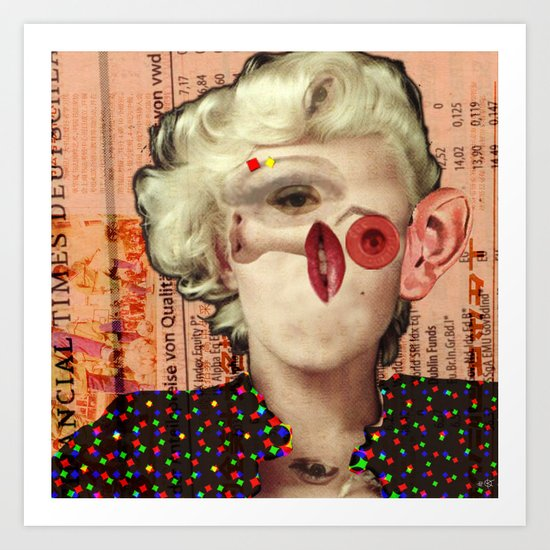 Mix Marilyn Collage 4 Art Print