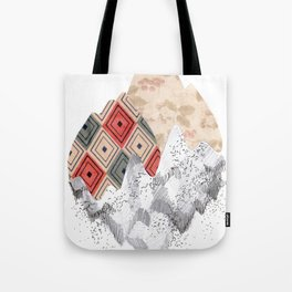montañas collage Tote Bag