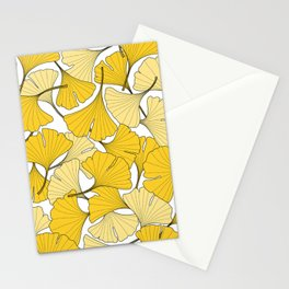 ginkgo leaves (yellow) Stationery Cards