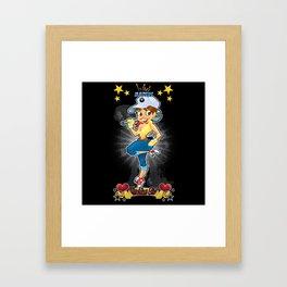 War Maiden - Machine Girl Framed Art Print