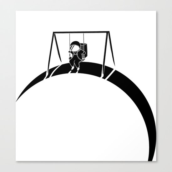 In Space No One Will Push Your Swing Canvas Print