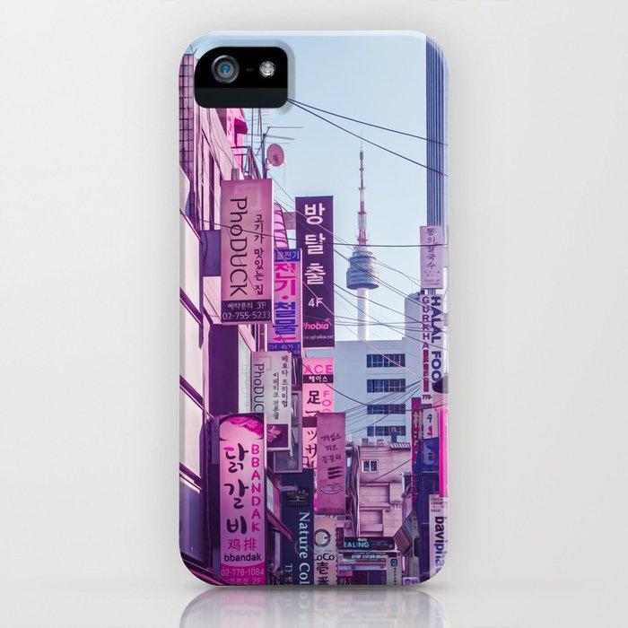 Seoul - Anime World iPhone Case
