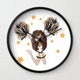 Cheerleader Fun Wall Clock