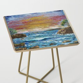 """""""Somewhere Sunset"""" Side Table"""