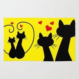 Valentine's Day Kittens Rug