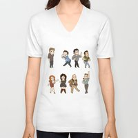 dance V-neck T-shirts featuring Dance by kendrawcandraw