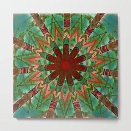 Superimposed Nausea Mandala Metal Print