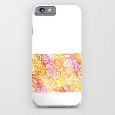 Typographic Colorado - orange watercolor Slim Case iPhone 6s