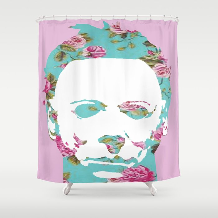 Halloween Floral Michael Myers Shower Curtain