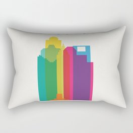 Shapes of Houston. Accurate to scale Rectangular Pillow