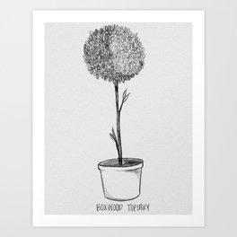 Boxwood Topiary Art Print