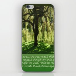 How Still the Tree Photograph and Prose iPhone Skin
