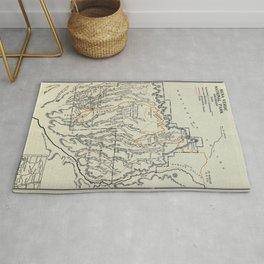 Vintage Mesa Verde National Park Map (1919) Rug
