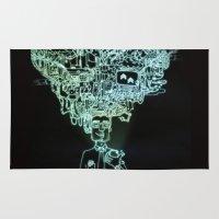 geek Area & Throw Rugs featuring GEEK by taniavisual