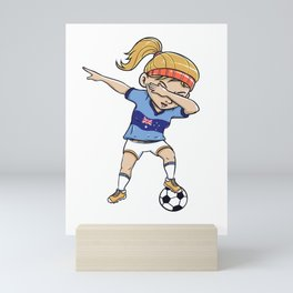 Dabbing Soccer Player Funny Australia Fan design girl Mini Art Print