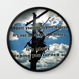Support your Lineman Wall Clock