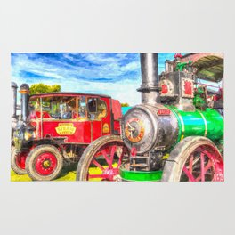 Traction Engine And Steam Lorry Art Rug