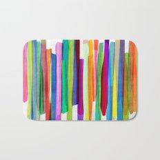 Colorful Stripes 1 Bath Mat