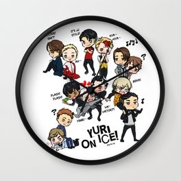 Yuri On Ice - Full Chibi Team! Wall Clock