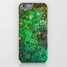 RAINBOW DOTTY OCEAN 3 Green Lime Ombre Space Galaxy Colorful Polka Dot Bubbles Abstract Painting Art Slim Case iPhone 6s