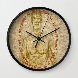 Gym Motivation Arnold Saying Wall Clock