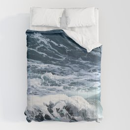 Blue Sea Ocean Waves Comforters