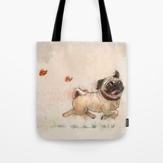 The Furminator pug watercolor like art Tote Bag