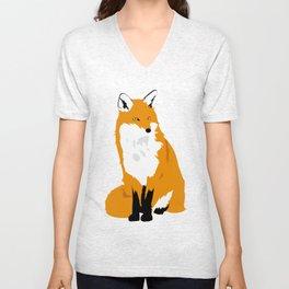 Red Fox (Light Background) Unisex V-Neck