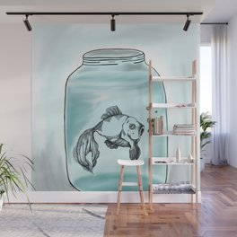 Jar Fish Wall Mural