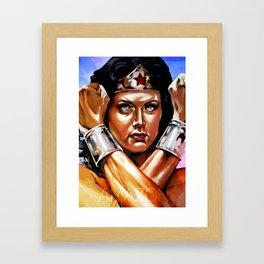 Amazon II - Lynda Carter Framed Art Print