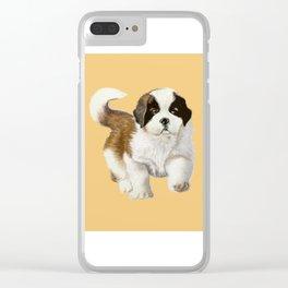 Saint Bernard Puppy Clear iPhone Case