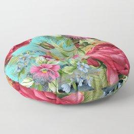 Vintage flowers #11 Floor Pillow