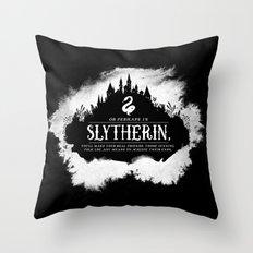 Slytherin B&W Throw Pillow