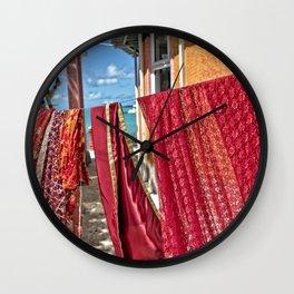 Wash day at Hindu temple, Mauritius Wall Clock
