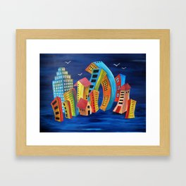 The Floating City Framed Art Print