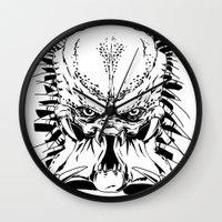 predator Wall Clocks featuring Predator by P2theK