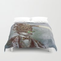 marianna Duvet Covers featuring The Projectionist (colour option) by Eric Fan