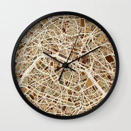 Paris France Street Map Wall Clock