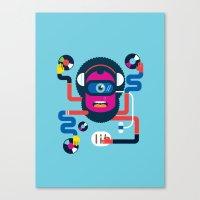dj Canvas Prints featuring DJ by Katboy 7