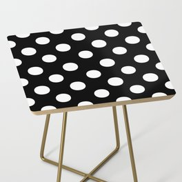 Polka Dots (White/Black) Side Table