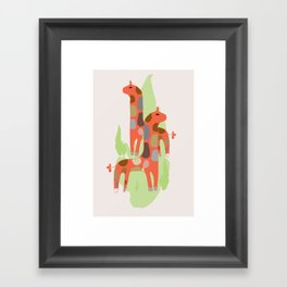 Giraffes kids decor nursery Framed Art Print