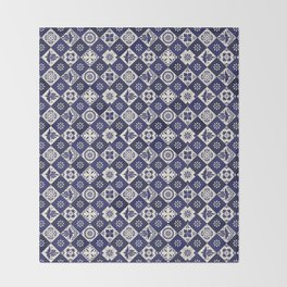 Mexican Talavera Tiles Throw Blanket