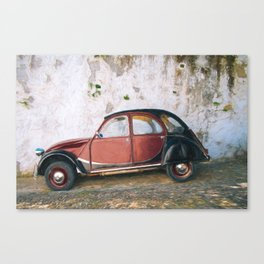 Vintage Old Car paiting in Andaluzia - Spain  Canvas Print