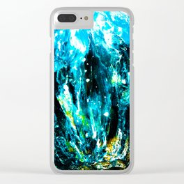 Into the Deep Blue Clear iPhone Case