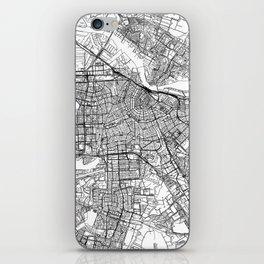 Amsterdam White Map iPhone Skin